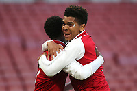 For Balogun celebrates scoring Arsenal's first goal with Tyreece John-Jules during Arsenal Youth vs Blackpool Youth, FA Youth Cup Football at the Emirates Stadium on 16th April 2018