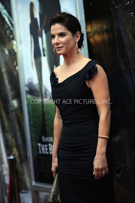 WWW.ACEPIXS.COM . . . . . ....November 17 2009, New York City....Actress Sandra Bullock arriving at the premiere of 'The Blind Side' at the Ziegfeld Theatre on November 17, 2009 in New York City.....Please byline: KRISTIN CALLAHAN - ACEPIXS.COM.. . . . . . ..Ace Pictures, Inc:  ..tel: (212) 243 8787 or (646) 769 0430..e-mail: info@acepixs.com..web: http://www.acepixs.com