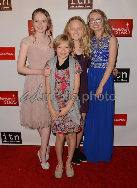 "10 December - Hollywood, Ca - Alecoe Haughey, Mainie Mulholland, Lucy O'Connor, Kate O'Connor. Arrivals for the Los Angeles premiere of ""A Christmas Star"" held at TCL Chinese Theater. Photo Credit: Birdie Thompson/AdMedia"