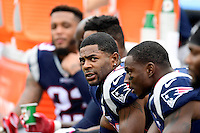 Sunday, October 2, 2016: New England Patriots cornerback Malcolm Butler (21) sits on the bench during the NFL game between the Buffalo Bills and the New England Patriots held at Gillette Stadium in Foxborough Massachusetts. Buffalo defeats New England 16-0. Eric Canha/Cal Sport Media
