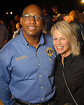 Charles McClelland and Maurine Ford at the Second Annual True Blue Gala sponsored by the Houston Police Foundation at the home of Paige and Tilman Fertitta Saturday Oct. 17,2009. (Dave Rossman/For the Chronicle)