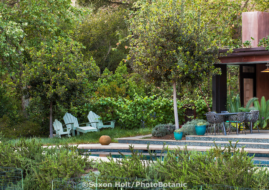 Coyote House, SITES® residential home with sustainable garden Santa Barbara California, Susan Van Atta design