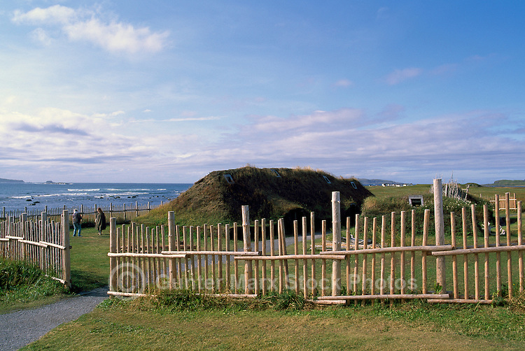 L'Anse aux Meadows National Historic Site, a UNESCO World Heritage Site, Newfoundland and Labrador, NL, Canada - Northern Peninsula, Western Region