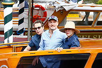 VENICE, ITALY - September 4th: Sam Rockwell, Woody Harrelson and Frances McDormand arrive at Darsena Excelsior during 74th Venice Film Festival at Excelsior Hotel on September 4th, 2017 in Venice, Italy. (Mark Cape/insidefoto)