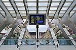Liege-Guillemins Station, Liege, Belgium.