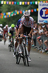 Polka Dot Jersey winner Romain Bardet (FRA) AG2R La Mondiale wins with French Champion Warren Barguil 2nd and Elie Gesbert (FRA) Arkea-Samsic 3rd at the end of the Criterium Castillon La Bataille 2019 the first criterium after the Tour de France held around Ville de Castillon-la-Bataille, France. 6th August 2019.<br /> Picture: Colin Flockton | Cyclefile<br /> All photos usage must carry mandatory copyright credit (© Cyclefile | Colin Flockton)