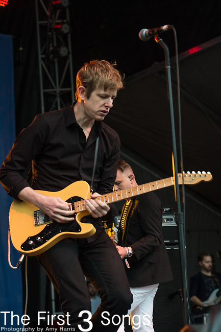 Britt Daniel of Spoon performs during the Forecastle Music Festival at Waterfront Park in Louisville, Kentucky.