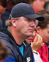 France, Paris, 27.05.2014. Tennis, French Open,Roland Garros, Kiki Bertens (NED)  Coach of Kiki Bertens Martin van der Brugghen (NED)<br /> Photo:Tennisimages/Henk Koster