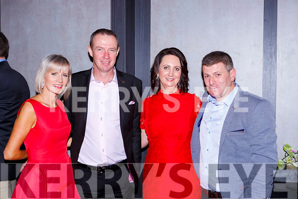 Mary and JJ Corduff Ballyferriter,  Gillian and Tomas O'Muircheartaigh An Gaeltaecht  at the O'Sé testimonial in aid of An Gaelteacht field fund in the INEC on Friday night