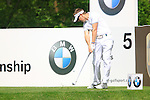Scott Drummond tees off on the par 3 5th hole during Round 2 of the BMW PGA Championship at  Wentworth, Surrey, England...Photo Golffile/Eoin Clarke.(Photo credit should read Eoin Clarke www.golffile.ie)....This Picture has been sent you under the condtions enclosed by:.Newsfile Ltd..The Studio,.Millmount Abbey,.Drogheda,.Co Meath..Ireland..Tel: +353(0)41-9871240.Fax: +353(0)41-9871260.GSM: +353(0)86-2500958.email: pictures@newsfile.ie.www.newsfile.ie.