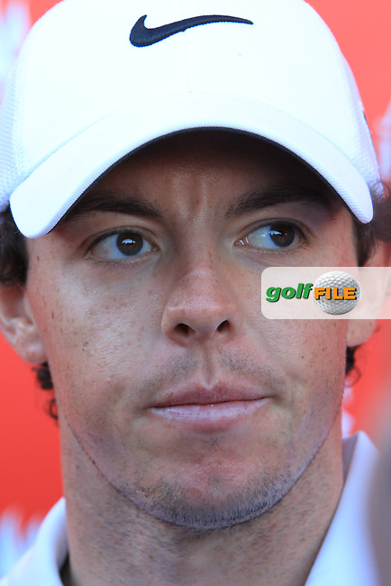 Rory McIlroy (NIR) after his match during Friday's Round 2 of the Abu Dhabi HSBC Golf Championship at Abu Dhabi Golf Club, 18th January 2013 (Photo Eoin Clarke/www.golffile.ie)
