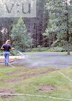 Hydro-seeding, grass seeding