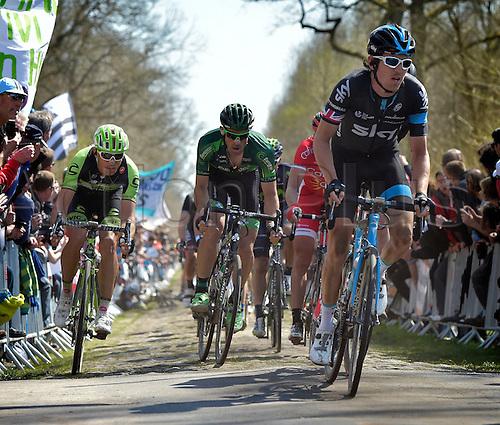 12.04.2015. Paris, France.  The Paris Roubaix cycling race, 2015.  Thomas Geraint of Sky