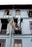 Singapore: Laundry hanging from window. Photo '82.