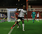 12th September 2017, Oakwell, Barnsley, England; Carabao Cup, second round, Barnsley versus Derby County; Andre Wisdom of Derby County keeps the ball in play