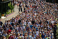 Fans escorted through at the start of Day 3<br /> <br /> Photographer Ashley Western/CameraSport<br /> <br /> Wimbledon Lawn Tennis Championships - Day 3 - Wednesday 5th July 2017 -  All England Lawn Tennis and Croquet Club - Wimbledon - London - England<br /> <br /> World Copyright &not;&uml;&not;&copy; 2017 CameraSport. All rights reserved. 43 Linden Ave. Countesthorpe. Leicester. England. LE8 5PG - Tel: +44 (0) 116 277 4147 - admin@camerasport.com - www.camerasport.com