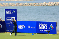 Andy Sullivan (ENG) during the final round of the NBO Open played at Al Mouj Golf, Muscat, Sultanate of Oman. <br /> 18/02/2018.<br /> Picture: Golffile | Phil Inglis<br /> <br /> <br /> All photo usage must carry mandatory copyright credit (&copy; Golffile | Phil Inglis)