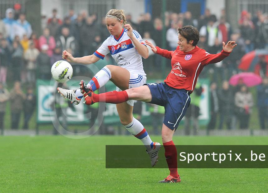 1/2 finale Coupe De France in Arras , stade Degouve : Arras - Olympique Lyonnais Lyon : Amandine Henry.foto JOKE VUYLSTEKE / Vrouwenteam.be