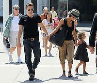 Family outing! Halle Berry took adorable Nahla and her fiance Olivier Martinez to see the Mary Poppins musical at the Music Center in Downtown Los Angeles. The three were accompanied by a security guard and a few friends. Have you noticed Halle's MC Hammer style harem pants? Los Angeles, California on 11.08.2012..Credit: Correa/face to face.. / Mediapunchinc ***online only for weekly magazines**** /NortePHOTO.com