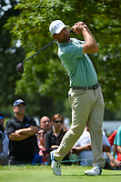 Lucas Glover (USA) watches his tee shot on 4 during Rd4 of the 2019 BMW Championship, Medinah Golf Club, Chicago, Illinois, USA. 8/18/2019.<br /> Picture Ken Murray / Golffile.ie<br /> <br /> All photo usage must carry mandatory copyright credit (© Golffile | Ken Murray)