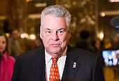 United States Representative Peter King (Republican of New York) speaks to members of the press in lobby of Trump Tower in New York, NY, USA December 15, 2016. <br /> Credit: Albin Lohr-Jones / Pool via CNP