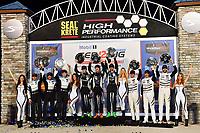 #11 GRT GRASSER RACING TEAM (DEU) LAMBORGHINI HURACAN GT3 GTD ROLF INEICHEN (CHE) MIRKO BORTOLOTTI (ITA) RIK BREUKERS (NLD) WINNER GTD<br /> #44 MAGNUS RACING (USA) LAMBORGHINI HURACAN GT3 GTD JOHN POTTER (USA) ANDY LALLY (USA) SPENCER PUMPELLY (USA) SECOND GTD<br /> #63 SCUDERIA CORSA (ITA) FERRARI 488 GT3 GTD COOPER MACNEIL (USA) TONI VILANDER (FIN) JEFF WESTPHAL (USA) THIRD GTD