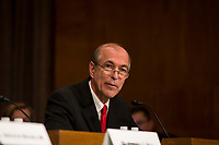 Former United States Representative Scott Garrett (Republican of New Jersey) speaks before the US Senate Committee on Banking, Housing, & Urban Affairs during his confirmation hearing to be President of the Export-Import Bank on Capitol Hill in Washington, D.C. on November 1st, 2017. Credit: Alex Edelman / CNP /MediaPunch
