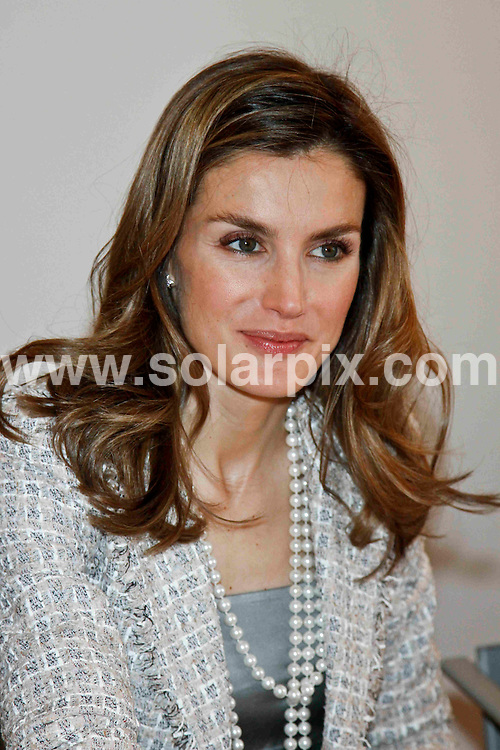 **ALL ROUND PICTURES FROM SOLARPIX.COM**                                             **UK SYNDICATION RIGHTS ONLY**                                                                                  Caption: Princess Letizia of Spain attend a working meeting of the Provincial Government of Madrid of the Spanish Association Against Cancer (AECC) in Madrid, Spain. 26 May 2011                                                                              This pic: Princess Letizia                                                                                 JOB REF: 13458 RHB      DATE: 26_05_2011                                                          **MUST CREDIT SOLARPIX.COM OR DOUBLE FEE WILL BE CHARGED**                                                                      **MUST AGREE FEE BEFORE ONLINE USAGE**                               **CALL US ON: +34 952 811 768 or LOW RATE FROM UK 0844 617 7637**