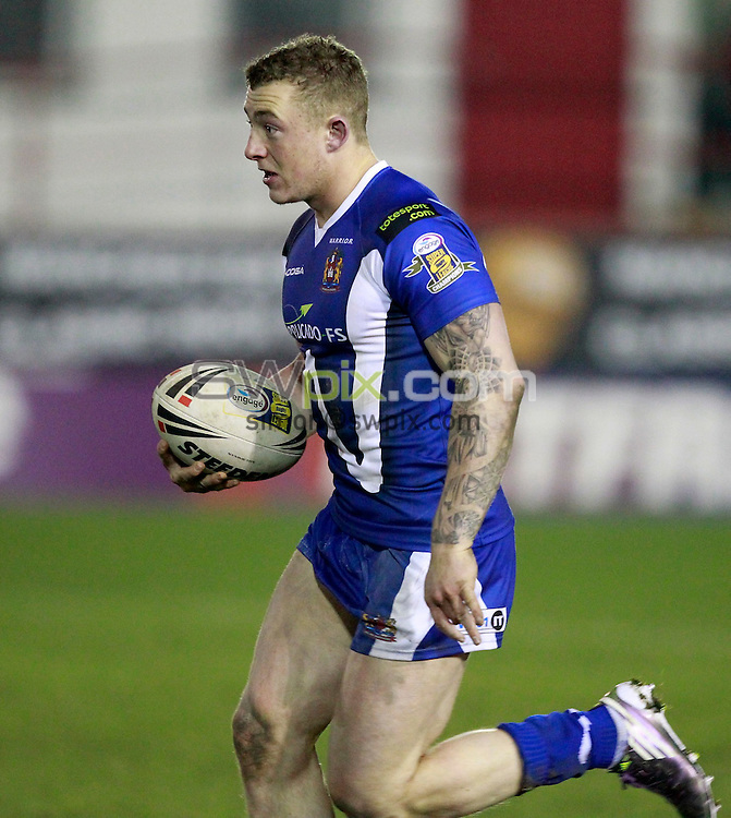 PICTURE BY CHRIS MANGNALL /SWPIX.COM...Rugby League - Super League  - Salford City Reds v Wigan Warriors - The Willows, Salford, England  - 04/03/11... Wigan's (25) Josh Charnley