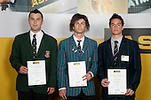 Boys Touch finalists Jason Cook, Trent Willace & Nathan Symes. ASB College Sport Young Sportperson of the Year Awards 2007 held at Eden Park on November 15th, 2007.