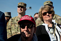 Attendees listen during a ceremony to commemorate the September 11, 2001 terrorist attacks with United States President Donald J. Trump, not pictured, at the Pentagon in Washington, D.C., U.S., on Monday, Sept. 11, 2017. Trump is presiding over his first 9/11 commemoration on the 16th anniversary of the terrorist attacks that killed nearly 3,000 people when hijackers flew commercial airplanes into New York's World Trade Center, the Pentagon and a field near Shanksville, Pennsylvania. <br /> CAP/MPI/CNP/RS<br /> &copy;RS/CNP/MPI/Capital Pictures