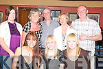 JUMP & JIVE 25: Katriona O'Shea, O'Rahilly's Villas, Tralee (seated centre) had a lovely evening dining at the Brogue Inn, Tralee, for her birthday. Pictured here are front l-r: Sarah Murray, Katriona O'Shea and Liz Murphy. Back l-r: Breda Cullom, Kay Dineen, John O'Shea, Francis and Thomas Moriarty.   Copyright Kerry's Eye 2008