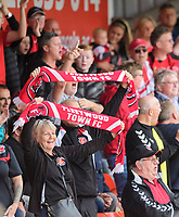 Fleetwood Town fans enjoy the pre-match atmosphere<br /> <br /> Photographer Chris Vaughan/CameraSport<br /> <br /> The EFL Sky Bet League One - Lincoln City v Fleetwood Town - Saturday 31st August 2019 - Sincil Bank - Lincoln<br /> <br /> World Copyright © 2019 CameraSport. All rights reserved. 43 Linden Ave. Countesthorpe. Leicester. England. LE8 5PG - Tel: +44 (0) 116 277 4147 - admin@camerasport.com - www.camerasport.com