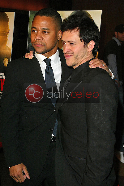 """Cuba Gooding Jr and Clifton Collins Jr<br />at the Los Angeles Premiere of """"Dirty"""". Writers Guild, Beverly Hills, CA. 02-22-06<br />Jason Kirk/DailyCeleb.com 818-249-4998"""
