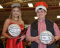 RICK PECK/SPECIAL TO MCDONALD COUNTY PRESS<br /> John Gordon and Bailey McAlister were named king and queen of the McDonald County High School 2019 Basketball Homecoming.