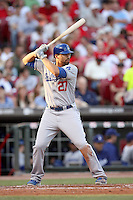 June 18, 2008: Los Angeles Dodgers right fielder Matt Kemp ant The Great American Ballpark in Cincinnati, OH.  Photo by:  Chris Proctor/Four Seam Images