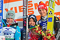 (L to R) Hendrickson Sarah (USA), Sara Takanashi (JPN), Graessler Ulrike (GER),.MARCH 3, 2012 - Ski Jumping : FIS Ski Jumping World Cup Ladies in Zao, Individual the 12th Competiiton victory ceremony HS100 at Jumping Hills Zao,Yamagata ,Japan. (Photo by Jun Tsukida/AFLO SPORT) [0003].