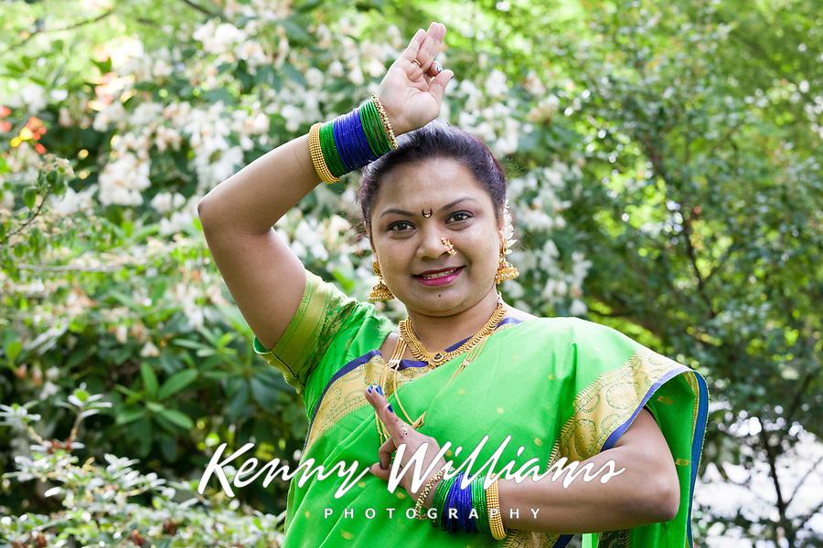 Woman Indian Folk Dancer, NW Folklife Festival, Seattle, WA, USA.