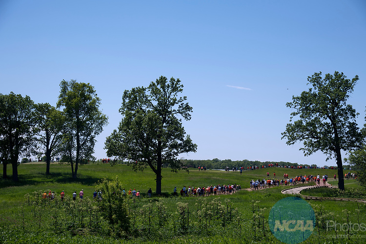 SUGAR GROVE, IL - MAY 29: Fans walk the course during the Division I Men's Golf Individual Championship held at Rich Harvest Farms on May 29, 2017 in Sugar Grove, Illinois. (Photo by Jamie Schwaberow/NCAA Photos via Getty Images)