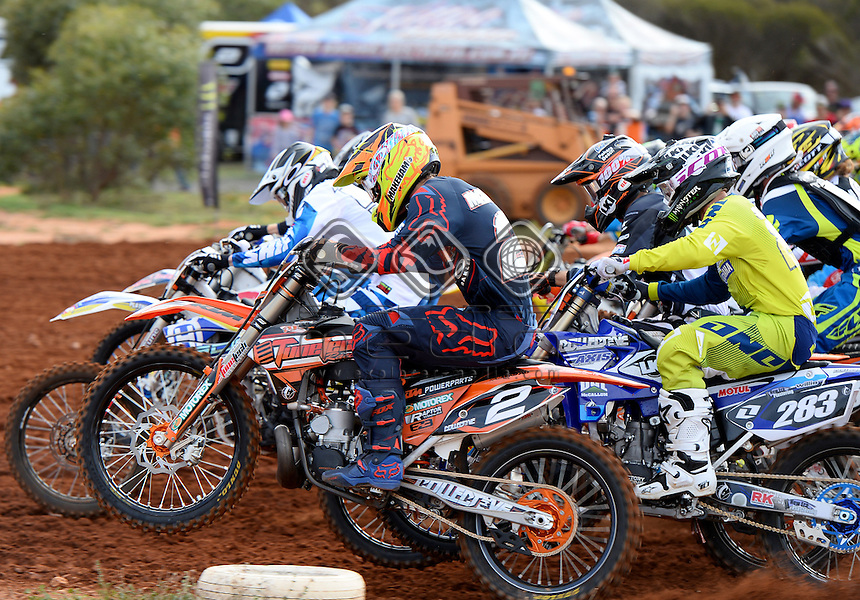 Kale Makeham / KTM<br /> MXN Round 4 - Murray Bridge / MX2<br /> 2014 Monster Energy MX Nationals<br /> Australian Motocross Championship<br /> Murray Bridge SA 18 May 2014<br /> &copy; Sport the library / Jeff Crow