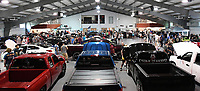 NWA Democrat-Gazette/J.T. WAMPLER Competitors and spectators pack the Springdale Civic Center for a car show Sunday May 28, 2017. Steeze Nation and ARModified organized the show and obtained sponsors, leaving all of the entry fees going to Arkansas Children's Hospital Northwest. Around 100 cars participated in the event.