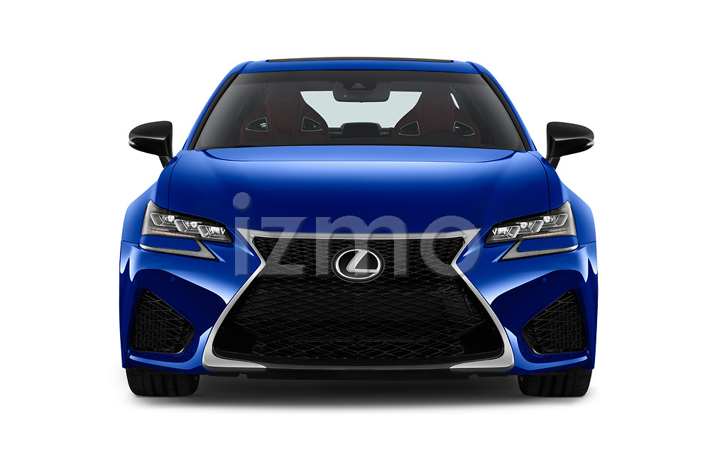 Car photography straight front view of a 2018 Lexus GS F 4 Door Sedan