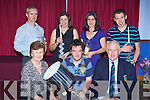 Dunloe Captain Andrew Power presents the Dunloe Golf club captains day winners their prizes in the clubhouse on Sunday night front row l-r: Margaret Moriarty President, Niall O'Sullivan overall winner, Andrew Power Captain. Back row: Jimmy Smith 2nd, Rosemary O'Sullivan 3rd, Breda Mulryan 2nd (Lady Captain) and Padraig Hartnett 3rd .