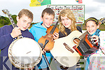 Gearoid Curtin, Daniel, Agnes Fitzgerald and Michelle O'Mahony  getting prepared for the Con Curtin traditional music festival which will be held in Brosna from Friday 26 to Sunday 28th June