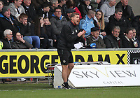 St Mirren Assistant Manager James Fowler out at the players in the St Mirren v Livingston Scottish Professional Football League Ladbrokes Championship match played at the Paisley 2021 Stadium, Paisley on 14.4.18.