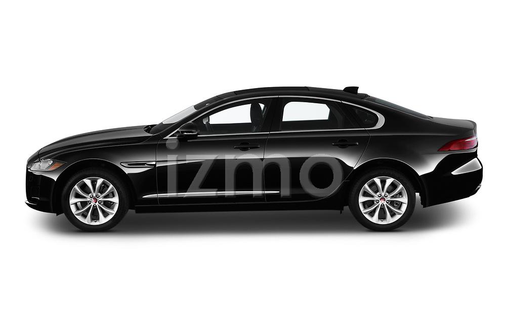 Car driver side profile view of a 2019 Jaguar XF Premium 4 Door Sedan
