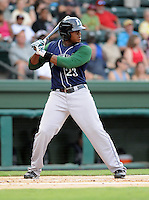 Infielder Telvin Nash (23) of the Lexington Legends, Class A affiliate of the Houston Astros, in a game against the Greenville Drive on August 5, 2011, at Fluor Field at the West End in Greenville, South Carolina. (Tom Priddy/Four Seam Images)