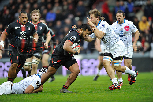 28.02.2016. Toulouse, Frace. Top14 rugby union league, Toulouse versus Montpellier.  Christopher Tolofua (st)