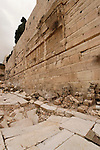 Israel, Jerusalem Archaeological Park, the Herodian Street next to the southern section of the Western Wall<br />