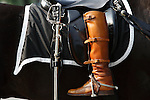 WASHINGTON, DC - JUNE 9:  One of former United States President Ronald Reagan's riding boots is reversed in the stirrup as part of the funeral procession to the US Capitol June 9, 2004 in Washington, DC.  (Photograph by Jonathan Paul Larsen)